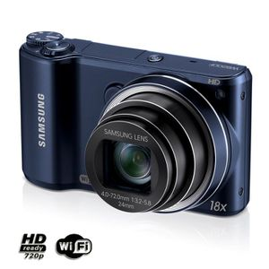 APPAREIL PHOTO COMPACT SAMSUNG WB200F Cobalt - Compact 14.2 MP Wi-Fi