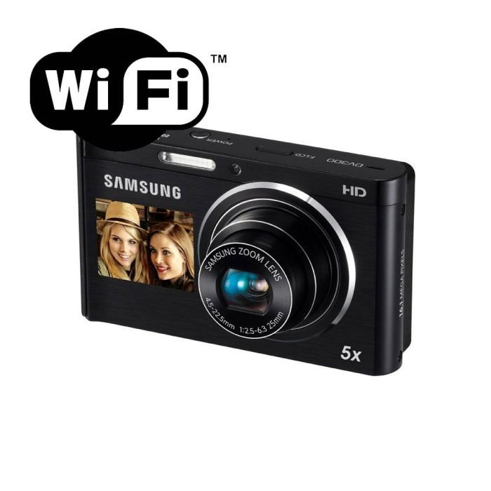 samsung dv300f noir wifi appareil photo num rique. Black Bedroom Furniture Sets. Home Design Ideas