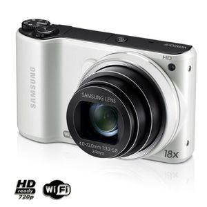 APPAREIL PHOTO COMPACT SAMSUNG WB200F Blanc - Compact 14.2 MP Wi-Fi