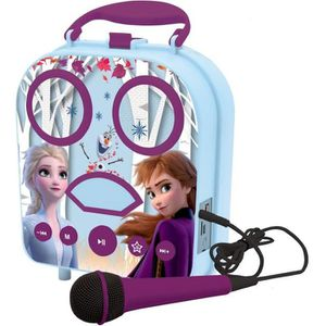 MICRO - KARAOKÉ Mon karaoké secret portable Disney La Reine des ne