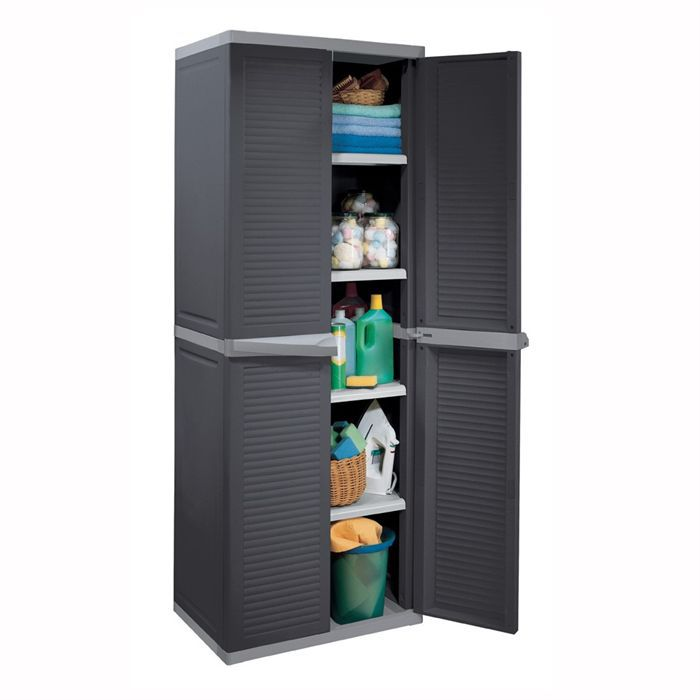 allibert armoire de rangement utility harmony achat vente etabli meuble atelier plastique. Black Bedroom Furniture Sets. Home Design Ideas
