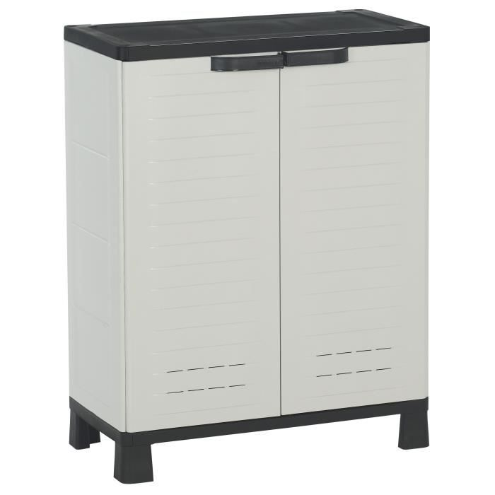 allibert airspire armoire de rangement basse achat. Black Bedroom Furniture Sets. Home Design Ideas