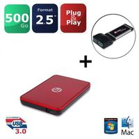 "DISQUE DUR EXTERNE Memup HDD 2.5"" USB 3.0 500Go + Express Card"