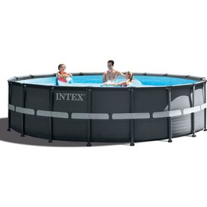 PISCINE INTEX Kit Piscine ronde tubulaire Ultra Frame - 5,