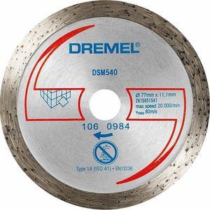 ACCESSOIRE MACHINE DREMEL s540 Disque diamanté pour carrelage de sol