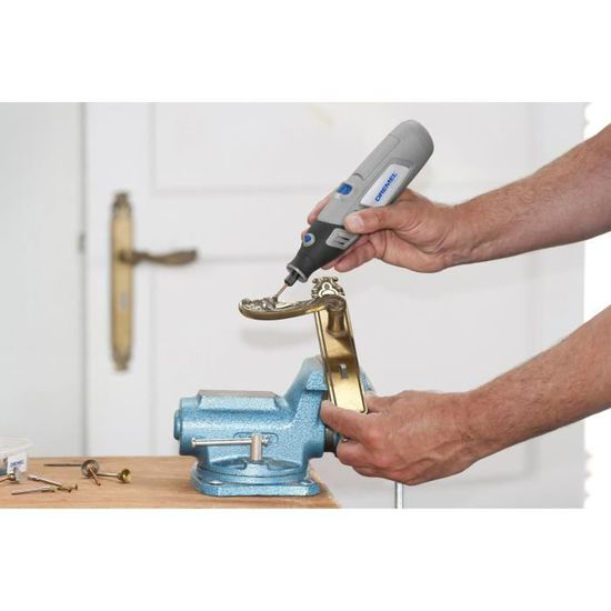 Dremel Outil Multi Usage 7750 10 Sans Fil Ni Mh 10 Accessoires 48 V Pour Poncer Percer Nettoyer Meuler Sculpter Poli