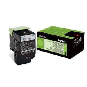 TONER Lexmark Toner 802K - 80C2SK0 - Noir - 1000 pages