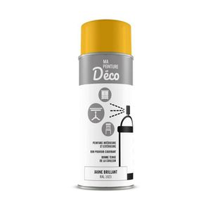PEINTURE - VERNIS Peinture aérosol déco - 0,4 L - Jaune brillant