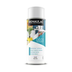 PEINTURE - VERNIS RENAULAC Peinture aérosol 0,4 L blanc satin