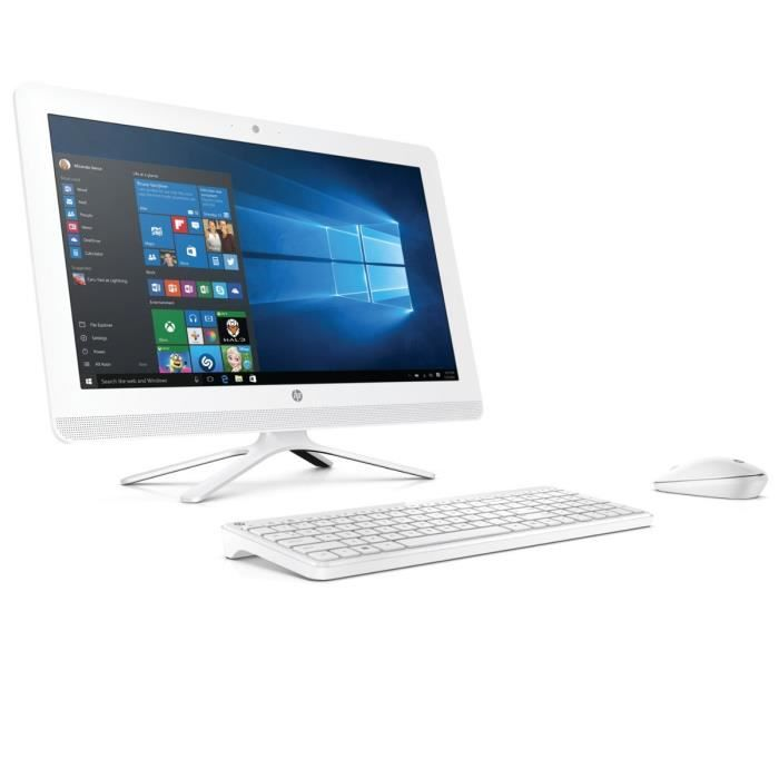 hp pc tout en un 22b000nf blanc 21 5 4go de ram windows 10 intel core i3 intel. Black Bedroom Furniture Sets. Home Design Ideas