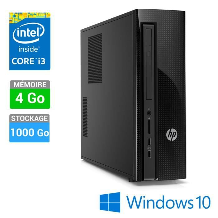 hp unit centrale slimline 410 000nf windows 10 1000go intel hd graphics 4400 noir. Black Bedroom Furniture Sets. Home Design Ideas