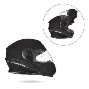 CASQUE MOTO SCOOTER ASTONE RT1200 Casque Modulable Noir Mat