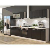 ULTRA Cuisine complète avec meuble four et plan de travail inclus L 300 cm - Noir mat