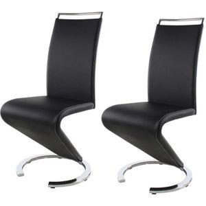 CHAISE SIDNEY Lot de 2 chaises de salle à manger en métal
