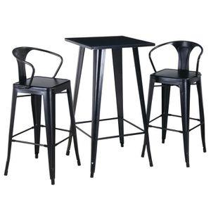 TABLE À MANGER COMPLÈTE RICHMOND Ensemble table et chaises hautes de 2 à 4