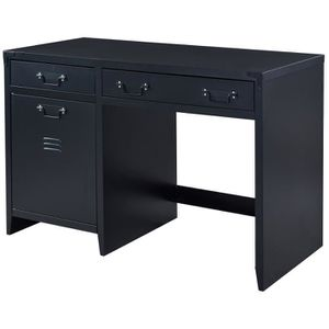 meubles bureau industriel achat vente meubles bureau industriel pas cher cdiscount. Black Bedroom Furniture Sets. Home Design Ideas