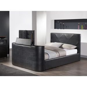 structure de lit 160x200 sans sommier achat vente structure de lit 160x200 sans sommier pas. Black Bedroom Furniture Sets. Home Design Ideas