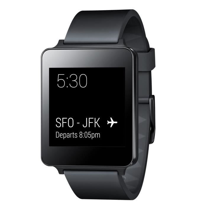 lg g watch noir android wear montre connect e achat montre connect e pas cher avis et. Black Bedroom Furniture Sets. Home Design Ideas