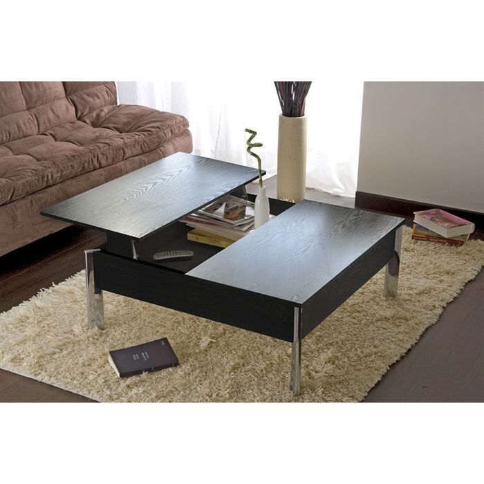 table basse up down achat vente table basse table basse up down noir mdf bois cdiscount. Black Bedroom Furniture Sets. Home Design Ideas
