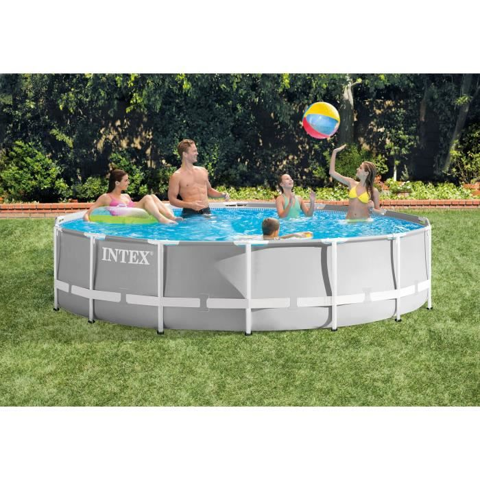 Intex Kit Piscine Prism Frame 427 X 107 Cm Achat Vente