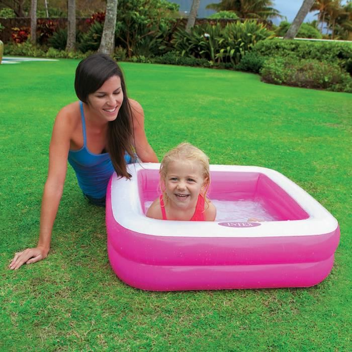 Intex Piscine Gonflable Enfant Bebe Pataugeoire Carree 85 X 85 X