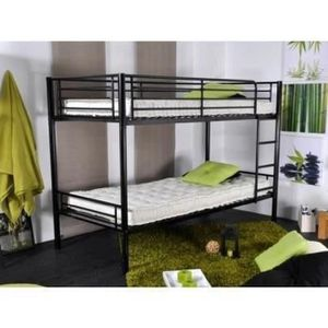 lit superpos m tal achat vente lit superpos m tal pas cher cdiscount. Black Bedroom Furniture Sets. Home Design Ideas
