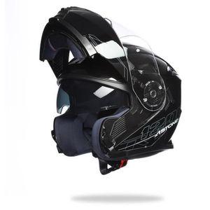 CASQUE MOTO SCOOTER ASTONE RT1200 Casque Modulable Noir Verni
