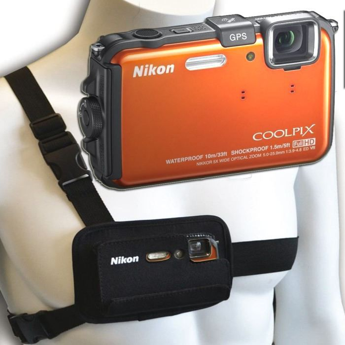 nikon aw100 gps orange harnais nikon achat vente appareil photo compact cdiscount. Black Bedroom Furniture Sets. Home Design Ideas