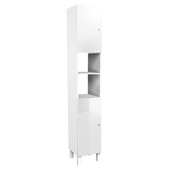 corail colonne de salle de bain l 30 cm blanc haute brillance achat vente colonne. Black Bedroom Furniture Sets. Home Design Ideas