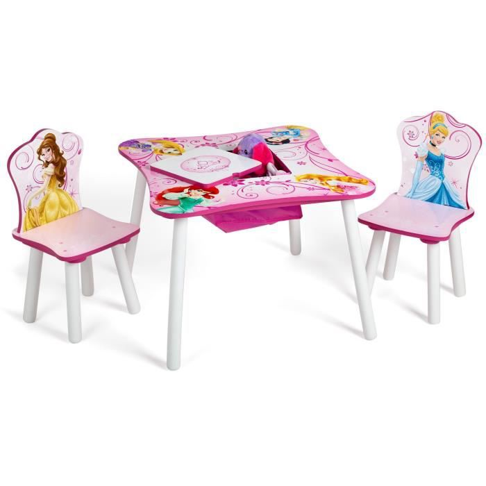disney princesses table enfant avec rangement et 2 chaises. Black Bedroom Furniture Sets. Home Design Ideas