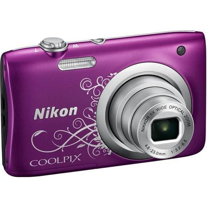 nikon coolpix a100 violet 20 1 m gapixels zoom nikkor. Black Bedroom Furniture Sets. Home Design Ideas