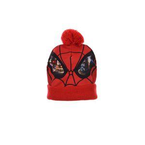 BONNET - CAGOULE SPIDERMAN Lot de Bonnets + gants- Enfant garçon -
