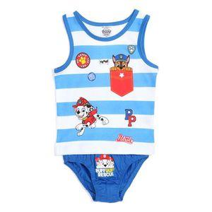 CULOTTE - SLIP PAT PATROUILLE Ensemble Sous-Vêtement Bleu Enfant