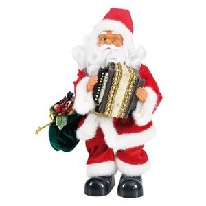 AUTOMATE ET PERSONNAGES Personnage de Noël Père Noël automate musical Roug