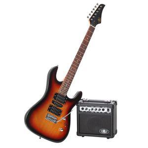 GUITARE LEGEND Pack Guitare Type Ibanez Sunburst