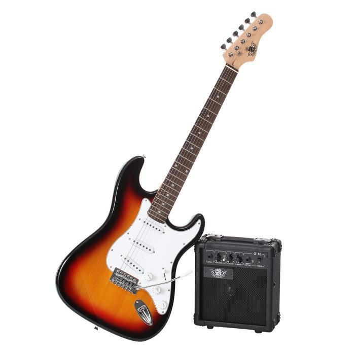 legend pack guitare type stratocaster sunburst pas cher. Black Bedroom Furniture Sets. Home Design Ideas
