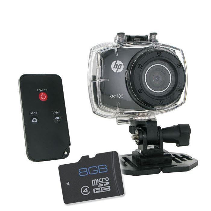 CAMÉRA SPORT HP AC-100 Caméra Sport FullHD + Carte MicroSD 8 Go