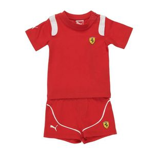 T-SHIRT PUMA Ensemble T-shirt et Short Sf Junior - Rouge