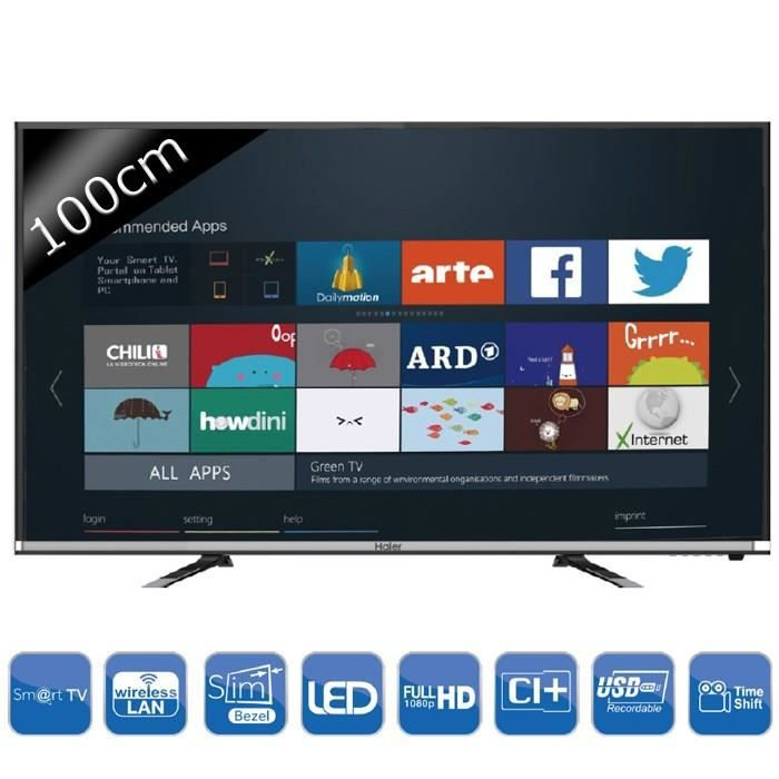haier le40k5000tf smart tv full hd 100cm 40 t l viseur led avis et prix pas cher cdiscount. Black Bedroom Furniture Sets. Home Design Ideas