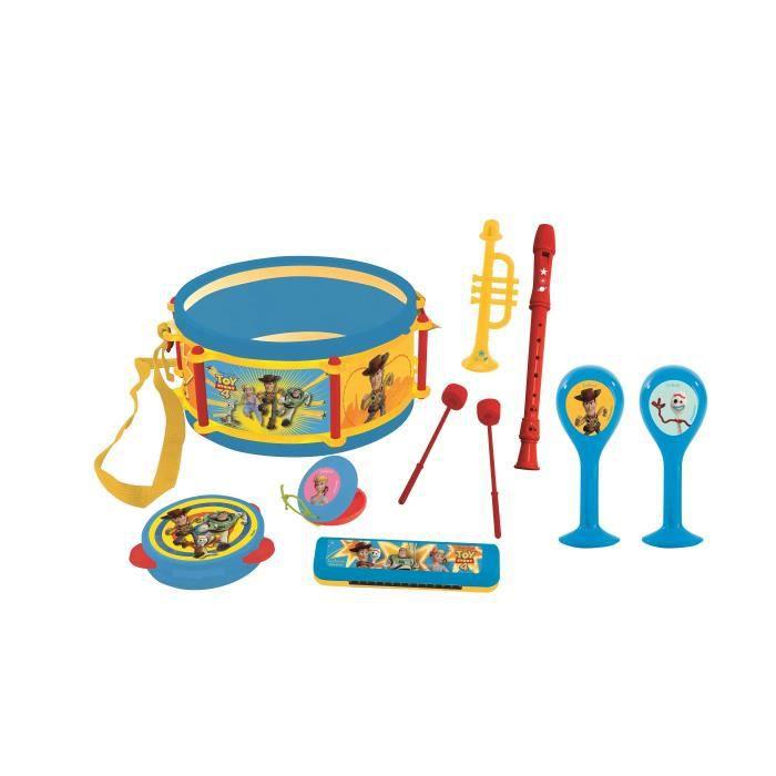 Kid Lot de 3 Percussions Enfant 1 Tambourin Paire Maracas Paire Castagnettes