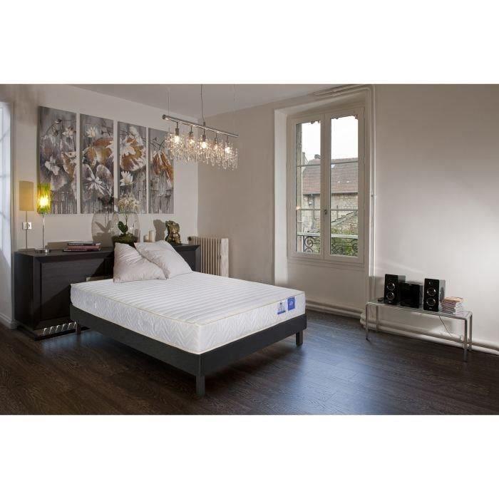 benoist ensemble matelas sommier 140x190 cm latex equilibr 75kg m 2 personnes. Black Bedroom Furniture Sets. Home Design Ideas