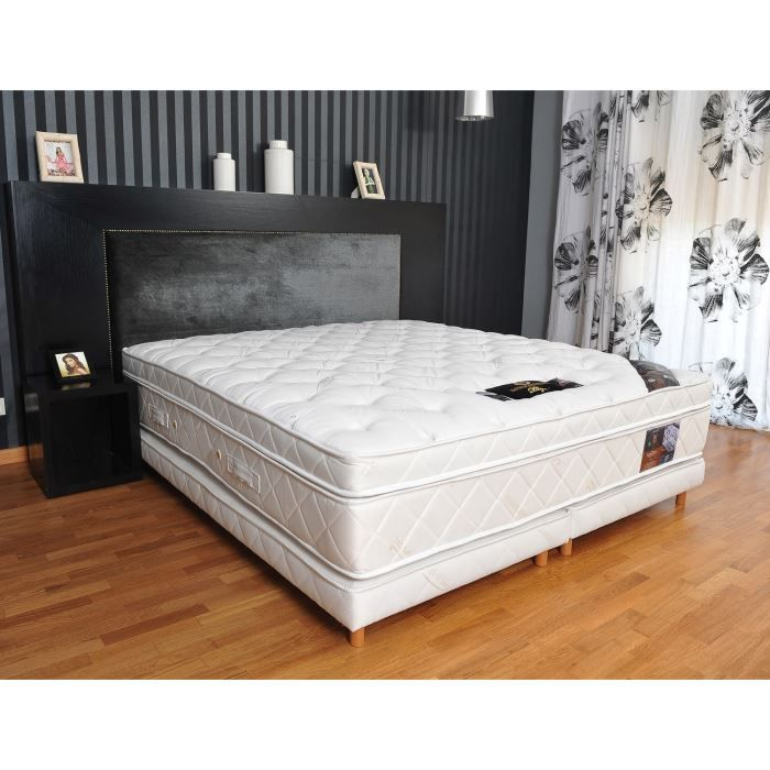 ensemble 200x200 ressorts surmatelas latex plaza achat vente ensemble literie cdiscount. Black Bedroom Furniture Sets. Home Design Ideas
