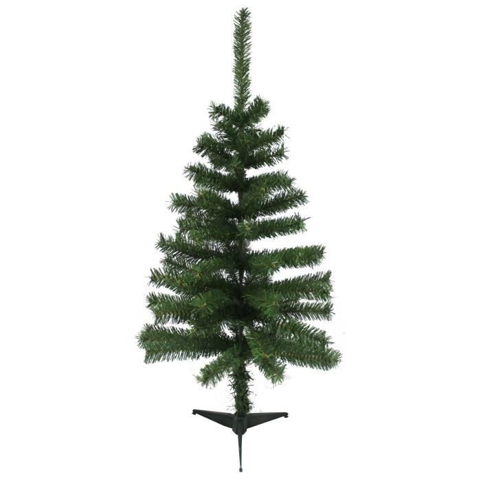 sapin de no l artificiel 80 branches vert 90 cm achat vente sapin arbre de no l m tal pvc. Black Bedroom Furniture Sets. Home Design Ideas
