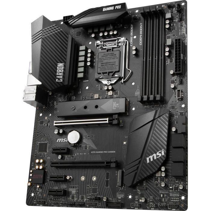 CARTE MÈRE MSI Carte mère H370 GAMING PRO CARBON - Intel
