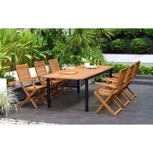 TABLE DE JARDIN  Ensemble repas de jardin extensible 6 à 8 personne
