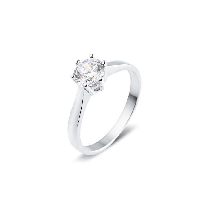 bague solitaire diamant 0.75 carat
