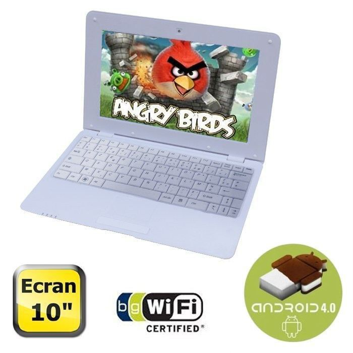 "NETBOOK Synchro Digital Netbook 10"" Android 4.0 Blanc"