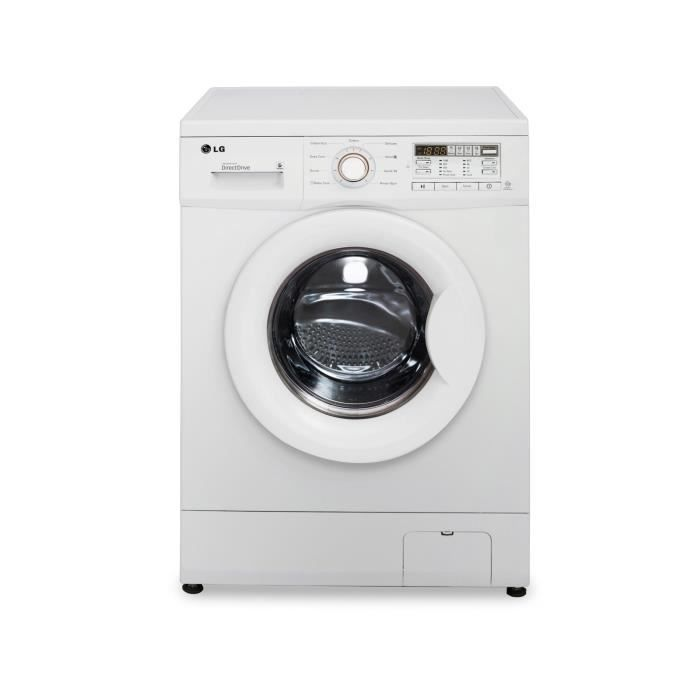 lg f84710wh lave linge frontal 8kg 1400 tours a lave. Black Bedroom Furniture Sets. Home Design Ideas