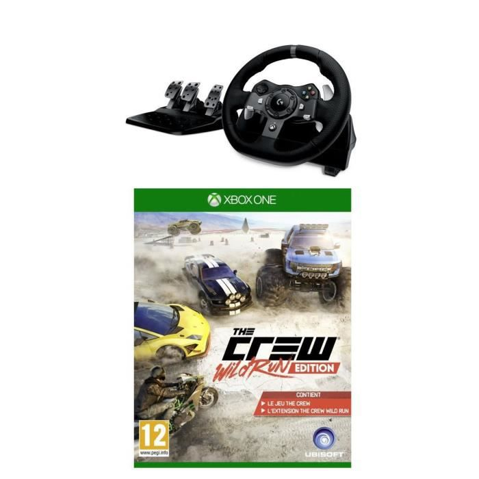 pack volant g920 the crew wild run jeu xbox one avis test cdiscount. Black Bedroom Furniture Sets. Home Design Ideas