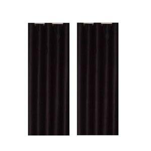 RIDEAU Paire de rideaux occultants 140x260 cm Noir